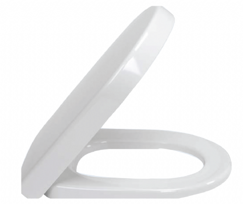 V&B (9M68Q101) Subway 2, Quick Release Seat, With Stainless Steel Hinges, In White